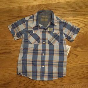NWT Nautica Boys short sleeve shirt age 5/6